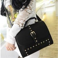 2014 women's the trend of fashion handbag vintage shaping vintage rivet bag portable bag messenger bag