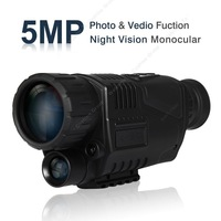 Free Shipping!5 Mega Pixels 5x40 Digital Night Vision Monocular 200m Photos & Video DVR 1.44 inch