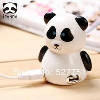 USB High Speed 4-Port 4 Port USB HUB Sharing Switch For Laptop PC Notebook Computer, Lovely Panda USB HUB  free shipping