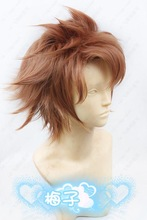M-X7-05 PSYCHO-PASS Kagari Shusei short brown cosplay wig Anime costume fashion party hair(China (Mainland))