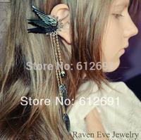 Elf wings ear cuff fashion tassel non pierced ear clip for women
