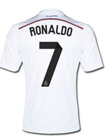 2014 Best thailand quality Real Madrid 13 14 Jersey 7# Home Ronaldo Isco Ozil bale Di maria Modric Soccer jersey