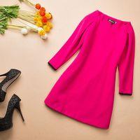 Spring ladies woolen slim basic skirt elegant one-piece dress