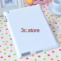 White Plastic Material Good flexibility Hard Back Skin Cover Case For iPad2 3 4 5pcs/lot free shipping