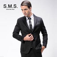 S.M.S.  2014 New Men's fashion Urban Hot Models Men Woolen Suit Autumn Blazer Jacket Free Shipping 135090