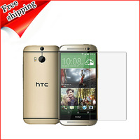 New one M8 film,clear screen protector for HTC New one M8  with retail pcaking Free shipping