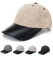 Wholesale 10pcs Men Plain Flex Fit PU Brim Baseball Caps Cheap Mens Summer Sports Cap Fashion Women Spring Hat Womens Blank Hats