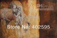 Free shipping 1 panel  horses animal abstract oil painting on canvas modern art 100% handmade  home decor YTM044