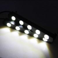 New Arrival! Super White 2PCS 5 LED Universal Car Light Daytime Running Auto Lamp Shinning, Free & Drop Shipping