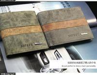 Free Shipping Genuine Cow Leather Men Wallet Purse Black Brown MQB76