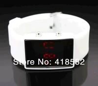 Retail Fashion LED Watch for Women Digital Bracelet Wristwatches Men Kids 10 Colors Silicone Hot Sale B047