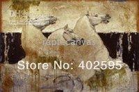 Free shipping 1 panel  horses animal abstract oil painting on canvas modern art 100% handmade  home decor YTM043
