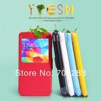 1pc NILLKIN Fresh series side flip Leather case For Samsung Galaxy S5 G900 i9600
