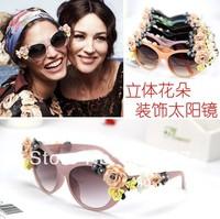 Wholesale and Retail new fashion summer sunglasses bohemia flower star design beach travel accessories in seabeach 1pc