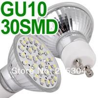 Free Shipping 10pcs GU10 White 30 SMD LED Spot Light Bulb Lamp Spotlight
