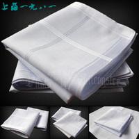 free shipping Handkerchief male fogle quality pure white 100% cotton handkerchief 100% cotton