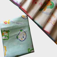 100% cotton handkerchief child cartoon 100% cotton handkerchief double layer gauze sputa squareinto waste-absorbing