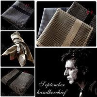 Handkerchief 100% male cotton handkerchief women's gift small fresh net colored formal handkerchief vintage fashion !