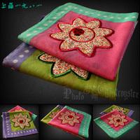 free shipping Handkerchief women's fogle applique embroidery 100% cotton handkerchief 100% cotton