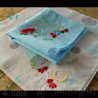 free shipping Handkerchief women's fogle quality embroidery endulge 100% cotton handkerchief 100% cotton