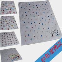 free shipping 100% cotton handkerchief child cartoon 100% cotton handkerchief baby gauze sputa squareinto waste-absorbing