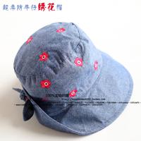 Super soft double layer small child cap hat casual cowboy hat sunbonnet female child hat