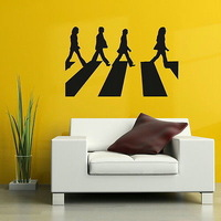 The Beatles Celebrity Wall Sticker Removable Wall Decal Art Wall Poster Paper Home Decor