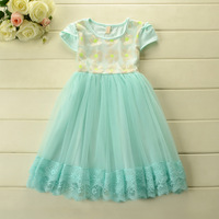 New 2014 Summer Boutique princess dress baby girl party dress kids Korean dress 5pcs/lot