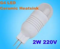 Wholesale 5pcs/lot Ceramic G4 led 3W 5050SMD 150LM Warm white white Non-polar LED Bulb Lamps High Lumen Energy Saving AC220-240V
