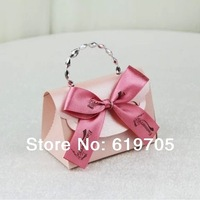 FREE SHIPPING 100pcs/lot Red beige Pink Elegant candy Bag  Favors box Wedding favor Party candy  box Anniversary gifts box