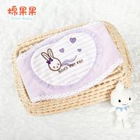 Autumn and winter cotton umbilical cord care velvet supplies of newborn baby burp cloth child