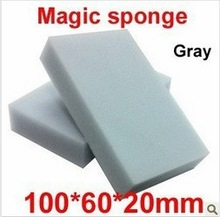50 pcs/lot Gray Magic Sponge Eraser Melamine Cleaner,multi-functional Cleaning 100x60x20mm Wholesale & Retial Free Shipping(China (Mainland))