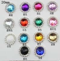 100pcs  Acrylic drilling alloy drill buckle rhinestone button pearl wedding Invitation embellishment Scrapbooking Napkin Ring