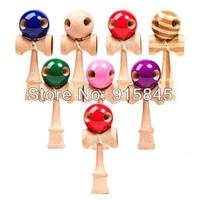 Via Fedex/DHL 200pcs/lot 5 Holes Kendama Ball Japanese Traditional Wood Game Kids Toy PU Paint & Beech
