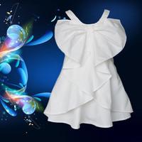 2014 Butterfly girl Dress 3~9age kid girl party dress 4pcs/lot shij197 children clothing wholesale desingner children's clothing