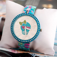 Vogue of new fund of 2014 Korean bow skull elastic steel belt table contraction set auger dial female leisure table J79