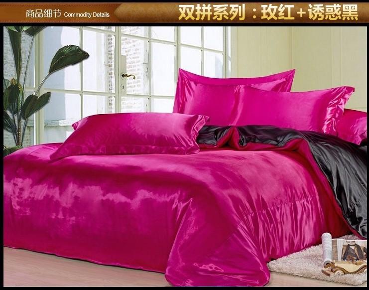 Roze satijnen lakens koningin promotie winkel voor promoties roze satijnen lakens koningin op - Lakens en sprei ...