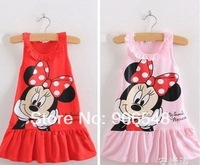 2014 Minnie girl vest dress , casual dresses for girls