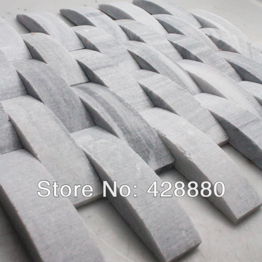 Pedra Natural azulejos da cozinha backsplash mosaico onda telha de metrô chão do banheiro espelho SGS43-3-1 3d piso de mármore projetos(China (Mainland))