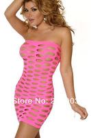 Free Shipping Fascinating Pothole Tube Chemise Lingerie Dress Wholesale 12pcs/lot Women's 2014 New Sexy Nightwear 21148