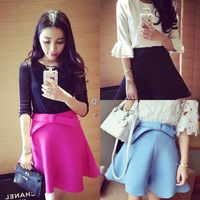 Spring 2014 women's bow decoration fashion high waist bust skirt