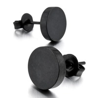 Stainless Steel Earrings Stud Black 2PCS