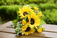 Free Shipping Bowyer artificial flower decoration flower silk flower 7 small fork 3 piece/lot