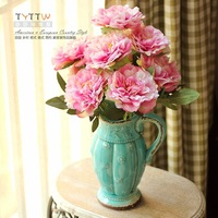 Free Shipping 9 fork peony fashion peony Artificial flower High Quality Fast Delivery