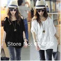Free Shipping  New 2014  Summer T-shirt    Korean Fashion  Neck strapless  Fold Wave  Women's T-shirt