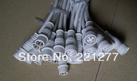 50 pairs 4 Core White Waterproof pigtail;20cm long each;male and female;male connector's diameter:13.5mm
