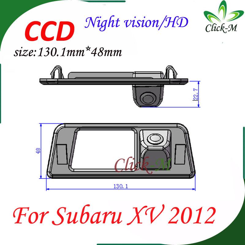 520TVL CCD HD parking reverse camera for Subaru XV 2012 night vision car rear view camera Pixel 728*582(China (Mainland))