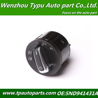 Chrome Euro Headlight Switch Contorl For VW Jetta Golf GTI MK5 MK6 Rabbit  5ND941431A , 5ND 941 431 A XSH 3C8 941 431 ,