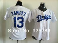 Cheap 2014New Arrival Lady Women Baseball Jersey LA Los Angeles Dodgers #13 Hanley Ramirez Jersey,Embroidery Logo