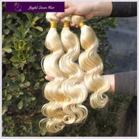 Joyful q hair blonde peruvian human hair weaves 3pcs lot 613 ms lula peruvian body wave virgin hair extensions free shipping
